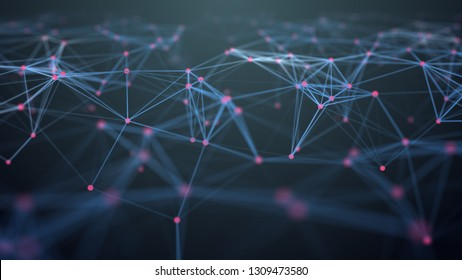 illustration of connection polygonal space low poly Futuristic digital Abstract background for Science and technology