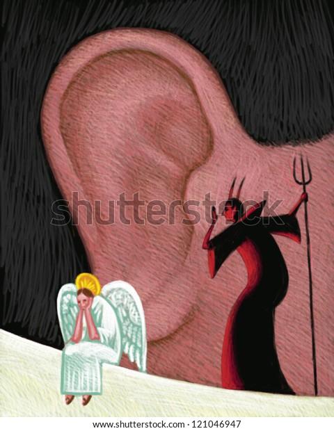 illustration of Conscience