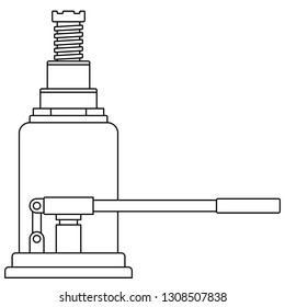 Illustration of the contour hydraulic lifting jack