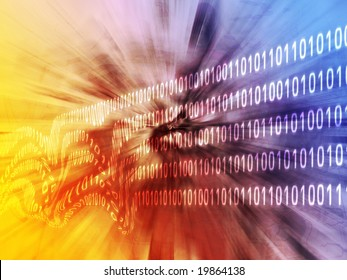 Illustration of corrupt data, damaged binary information