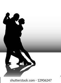 illustration of a couple dancing tango