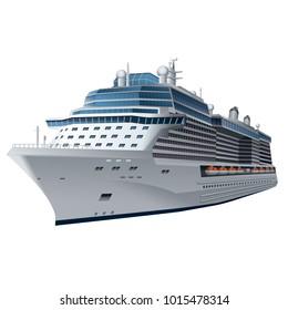 illustration of cruise ship