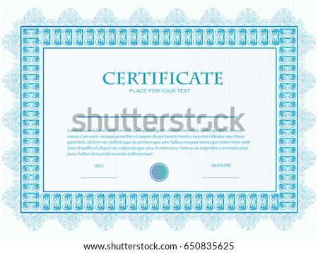 Royalty Free Stock Illustration Of Illustration Custom Certificate