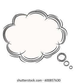 Illustration of Cute Cartoon Doodle of Speech Bubble. JPEG.
