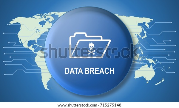Illustration of cyber crime technology concept on data breach.