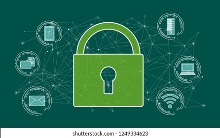 Illustration of a cyber security concept