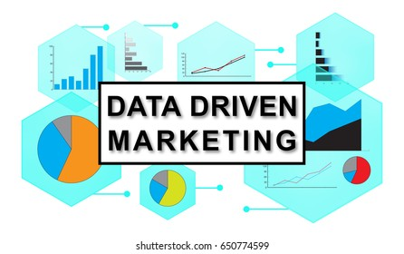 Illustration of a data driven marketing concept