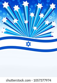illustration of the day of independence of Israel