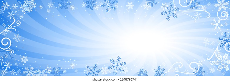 illustration of a decorated christmas background