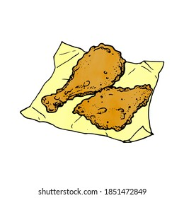 an illustration of deep fried chicken