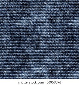 Illustration of denim fabric. A seamlessly tiling texture.