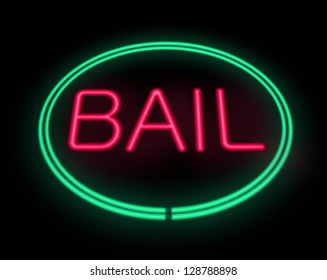 Illustration depicting a neon signage with a bail concept.