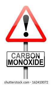 Illustration depicting a sign with a Carbon Monoxide concept.