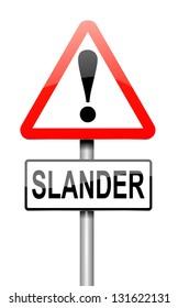 Illustration depicting a sign with a slander concept.