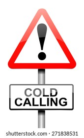 Illustration depicting a warning sign with a cold calling concept.
