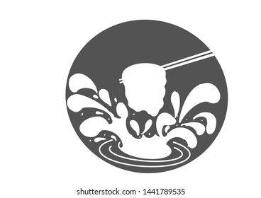 Illustration design of Shabu and Suki Yaki logo for Restaurant and bar.