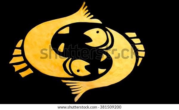 Illustration Designation Pisces Sign Horoscope Isolated Stock