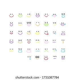 illustration of different emocion icon
