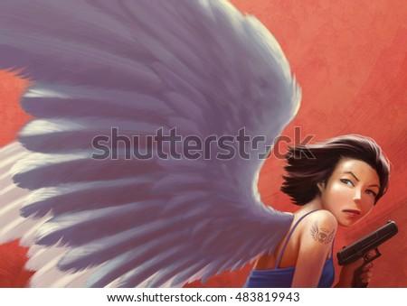 Dark angel action girls