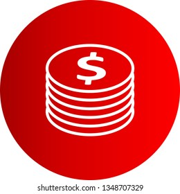 Illustration  Dollor Coins Icon