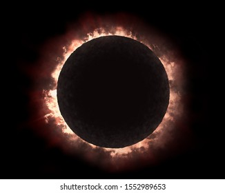 An illustration of the dramatic looking solar eclipse