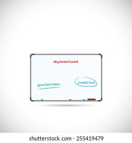 Illustration of a dry erase board isolated on a white background.
