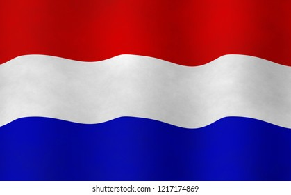 Illustration of a Dutch Flag, flying version
