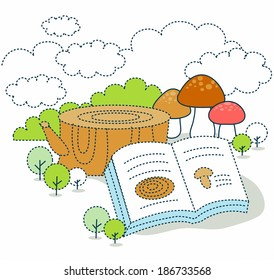 Similar images stock photos vectors of education chart biology illustration of an educational book ccuart Image collections