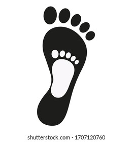 illustration emblem footprints of mother and baby on a white background