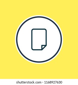illustration of empty dossier icon line. Beautiful office element also can be used as file icon element.