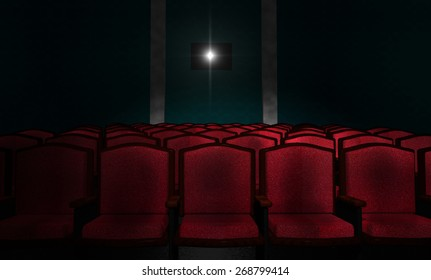 Illustration of an Empty Movie Theater
