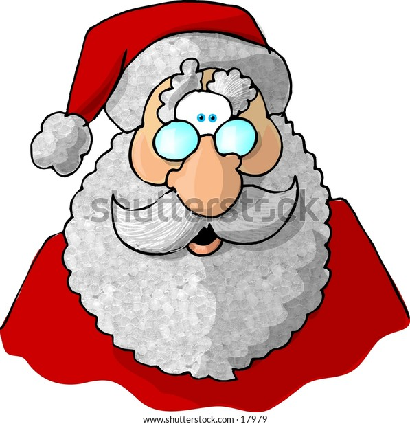 Illustration of the face of Santa Claus