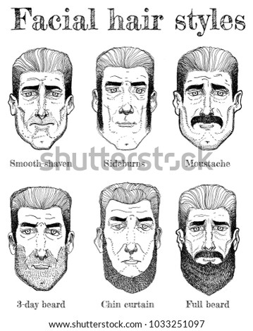 Royalty Free Stock Illustration Of Illustration Facial Hair Styles