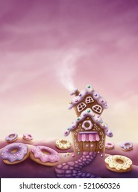 Illustration of fantasy sweet land