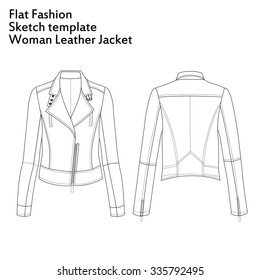 Set Fashion Flat Template Sketch Short Stock Illustration 391704367