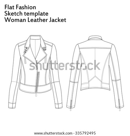 Illustration Of Fashion Flat Template Sketch