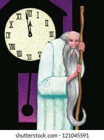 illustration of Fathr Time