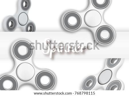 illustration fidget spinner banner template realistic stock