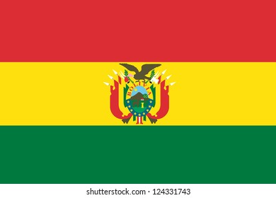 An illustration of the flag of Bolivia