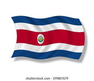 Illustration, Flag of Costa Rica