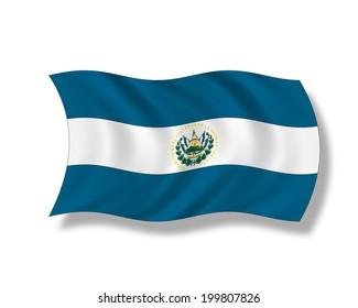 Illustration, Flag of El Salvador