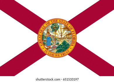 Illustration of the flag of Florida state in America