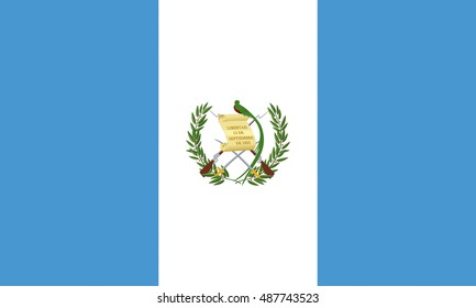 Illustration of the flag of Guatemala