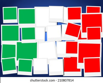 An illustration of the flag of Italy, photo frame