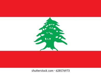 Illustration of the flag of Lebanon.