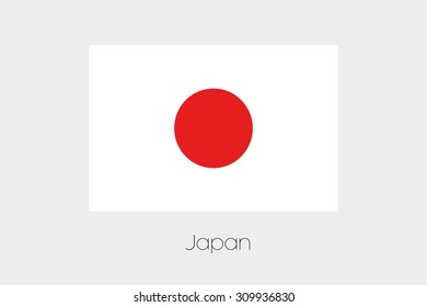An Illustration of the flag, with name, of the country of Japan