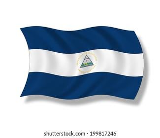 Illustration, Flag of Nicaragua