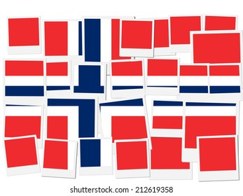 An illustration of the flag of Norway, photo frame