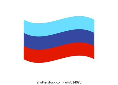 illustration of the flag of self-proclaimed Luhansk People's Republic on white background.