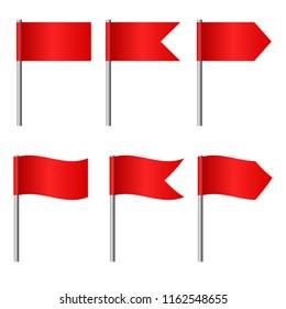 illustration of flags set